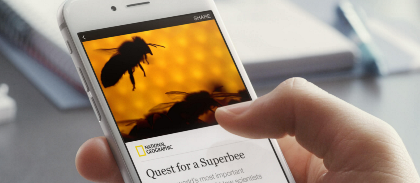 Facebook Instant Articles on Mobile Web