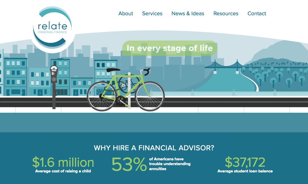 Relate Personal Finance Homepage Header