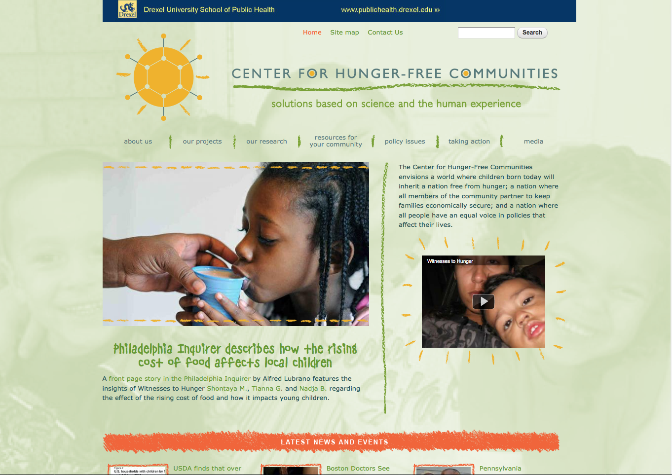 Center for Hunger Free Communities website