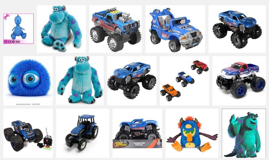 Big Blue Toy Monster