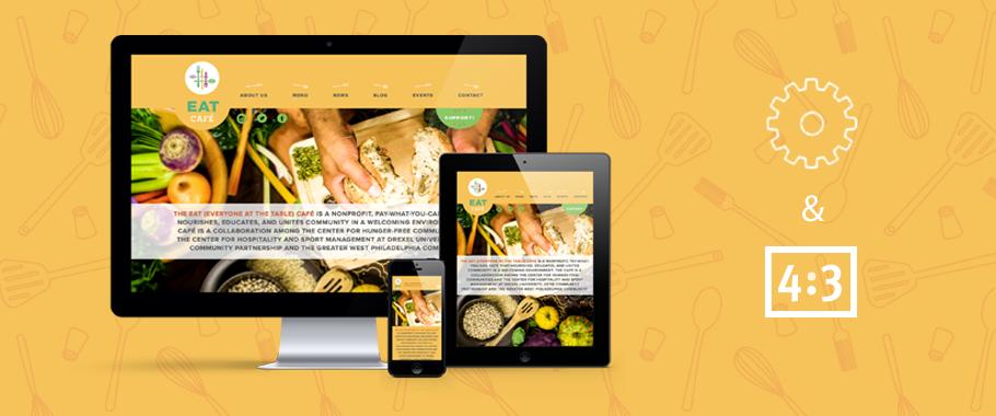 eat cafe responsive website design