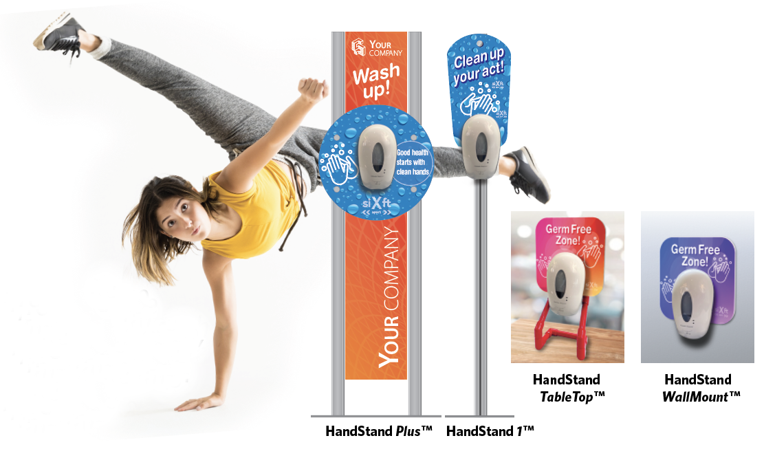 HandStand image with product names