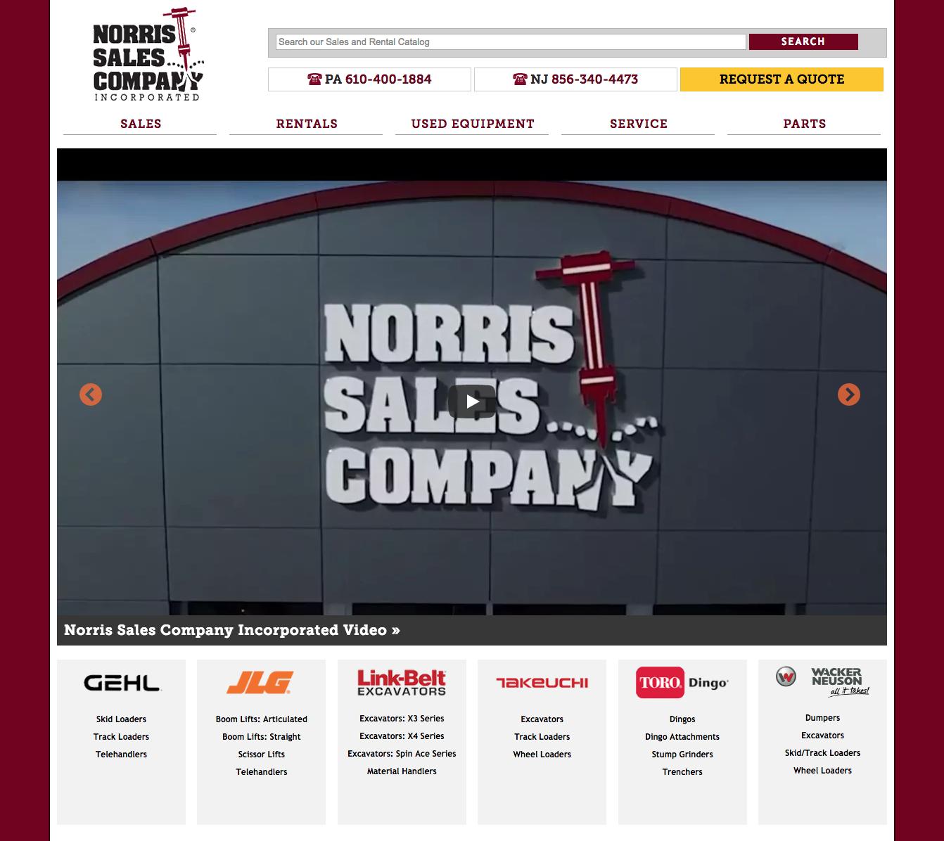 Norris Sales Homepage