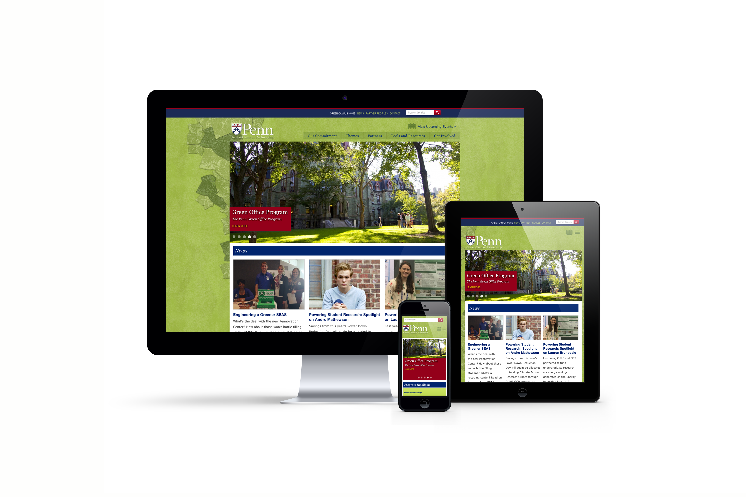 Penn Green Campus Partnership responsive design
