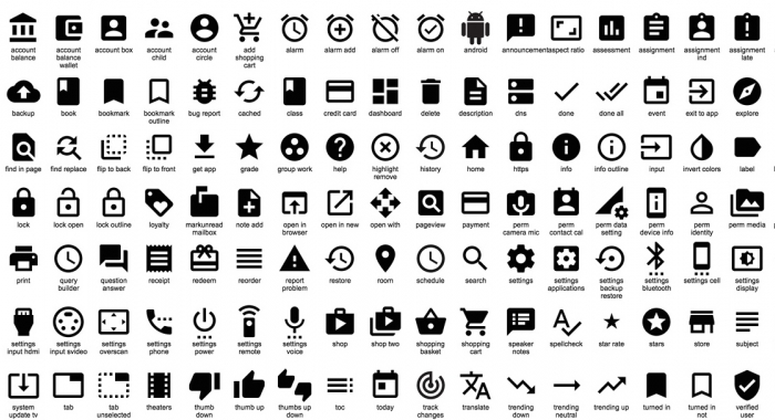 Google Responsive Design Icons