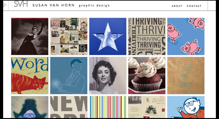 Susan Van Horn Graphic Design Website Launch