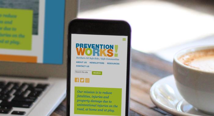 Prevention Works responsive web design