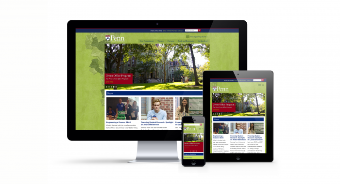 Penn Green Campus Partnership Website on iMac, iPad, and iPhone