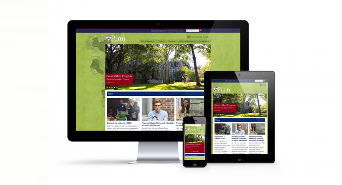 Penn Green Campus Partnership responsive design