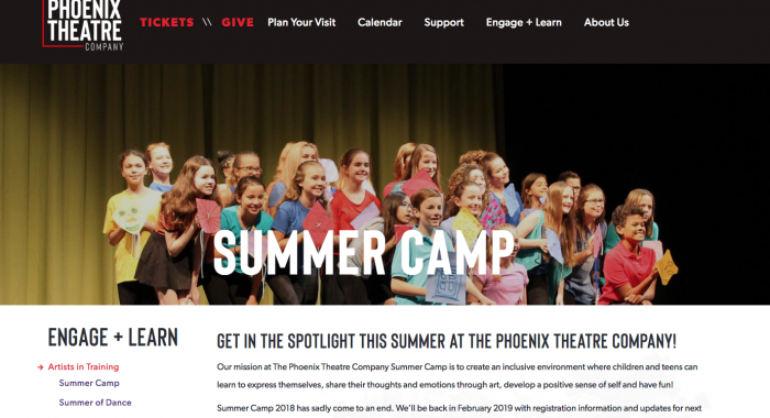 Website Launch: The Phoenix Theatre Company
