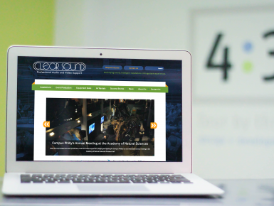 Clear Sound Responsive Website on Laptop