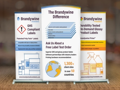 Brandywine trade show banner designed by 4x3, LLC