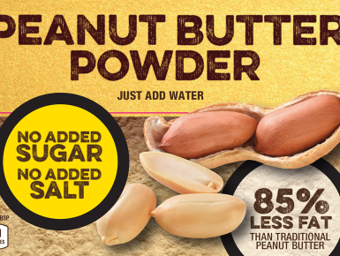 "hired by Macadoodle to design the product packaging for ""Peanut Wonder"""