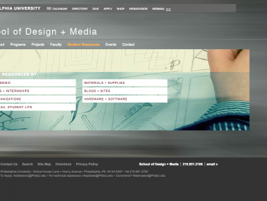 Philadelphia University School of Design + Media Website