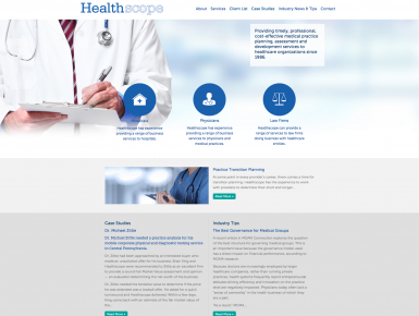 Healthscope Website Home Page