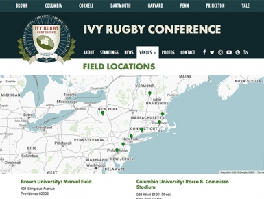 Ivy Rugby Field Locations