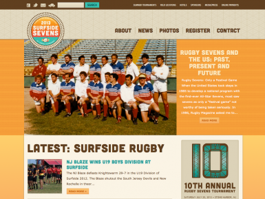 10th Anniversary Website, custom web design