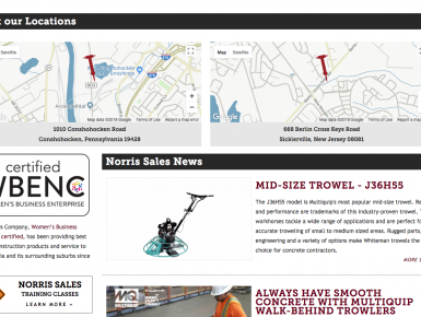 Norris Sales Location Map, Homepage