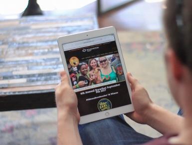 Historic Odessa Brewfest Responsive Web Design  on iPad