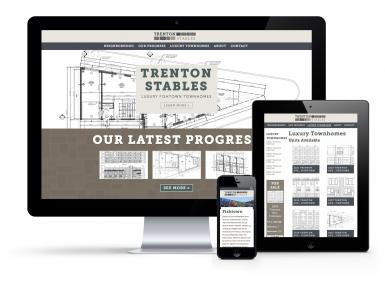 Trenton Stables Responsive Website Design Mock-up