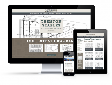 Trenton Stables Responsive Website Design Mock-up
