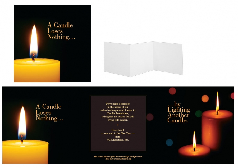 2013 Holiday Card, Candle Loses Nothing