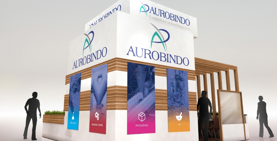 Aurobindo Trade Show Booth Panels Option 1