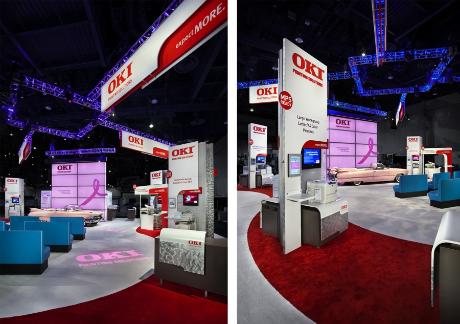 OKI Printing Solutions Trade Show Booth 03