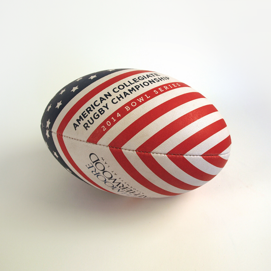 branded rugby ball for 2014 tournament