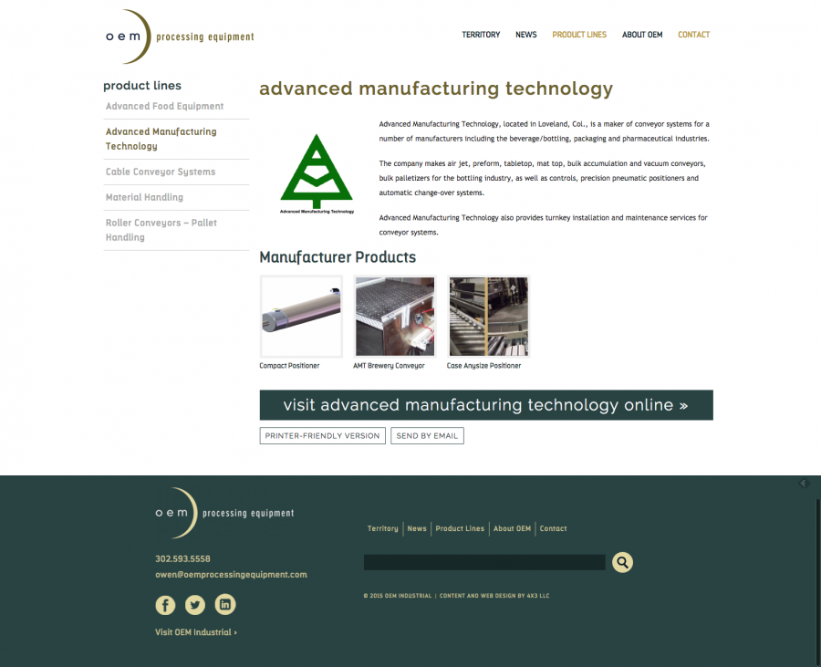 OEM Processing Equipment - Manufacturer Page