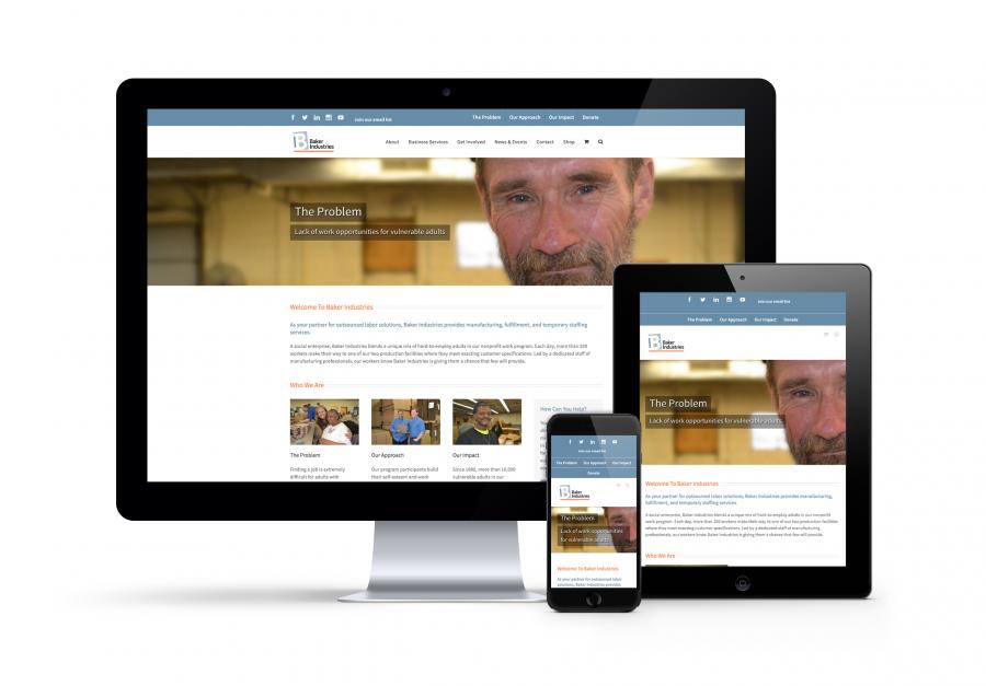 Website Responsives Baker Industries