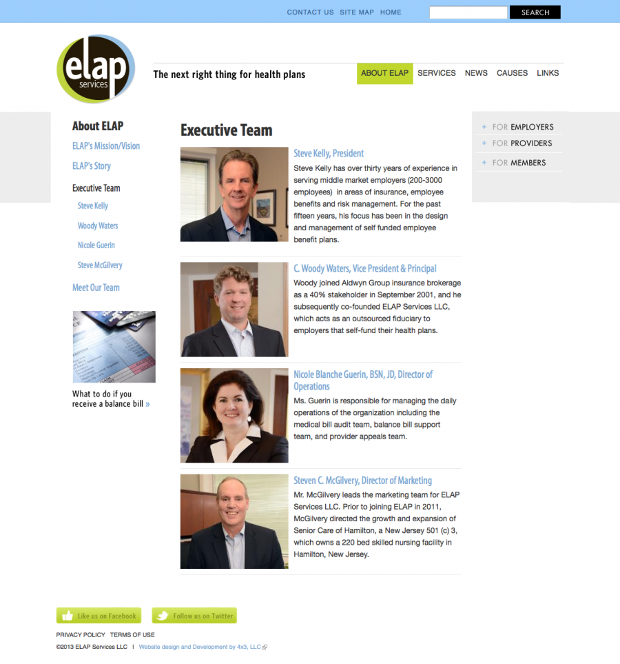 ELAP Executive Team Internal Page