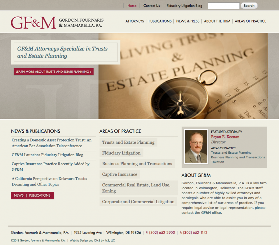 GF&M Law Firm Home Page