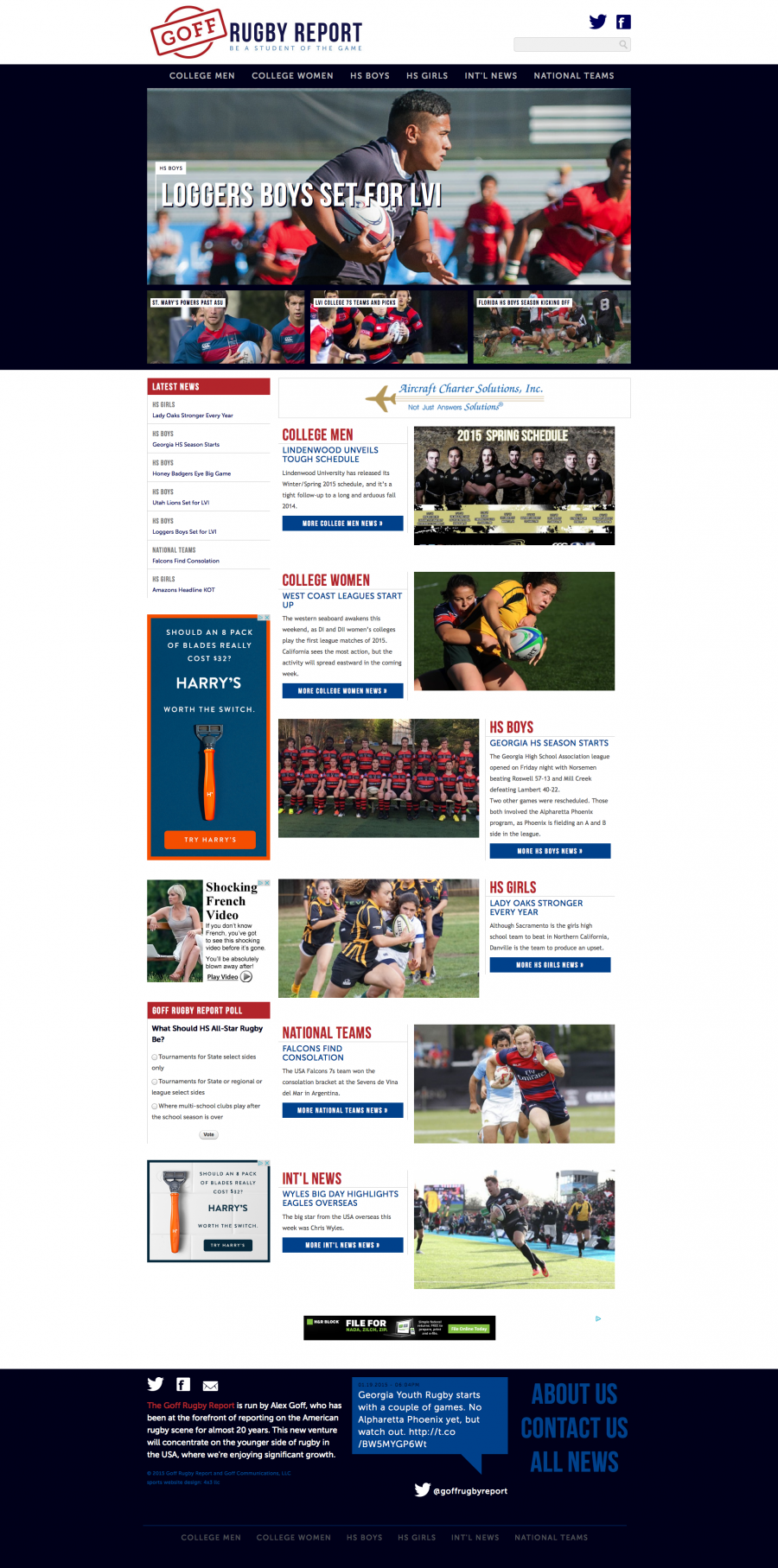 Goff Rugby Report Home Page
