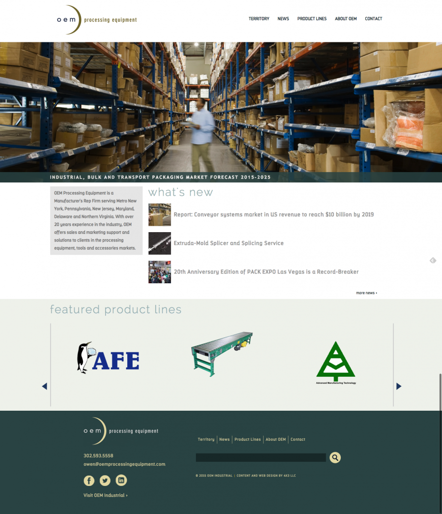 OEM Processing Equipment - Home Page