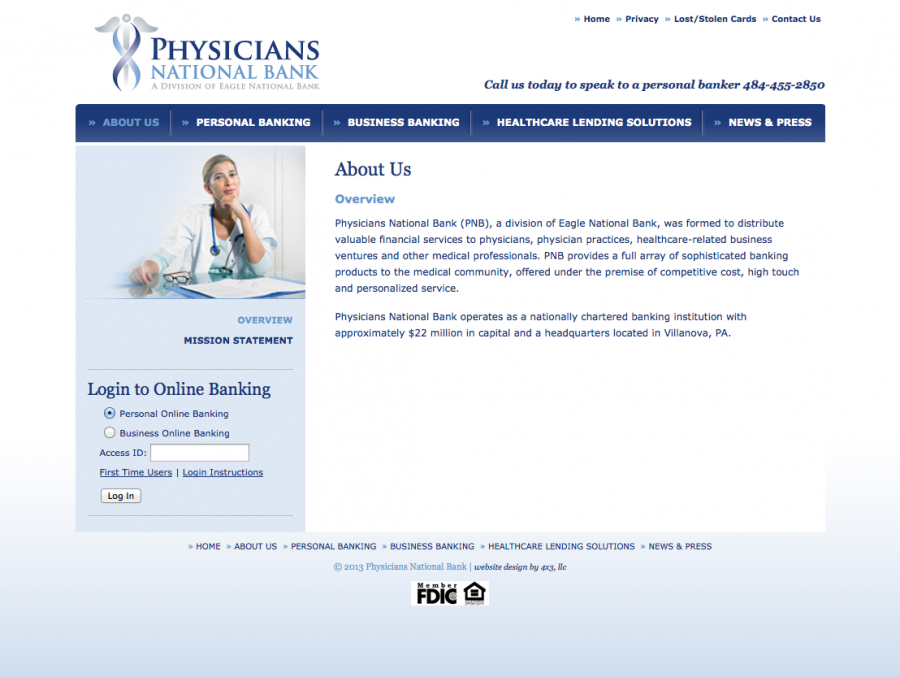 About Physicians National Bank