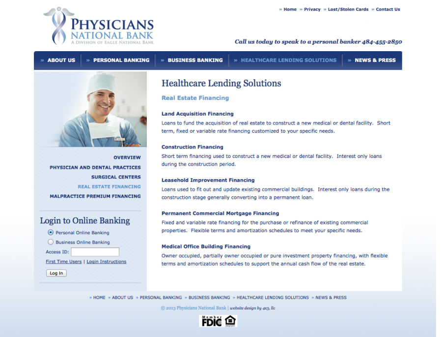 Physicians National Bank Financing