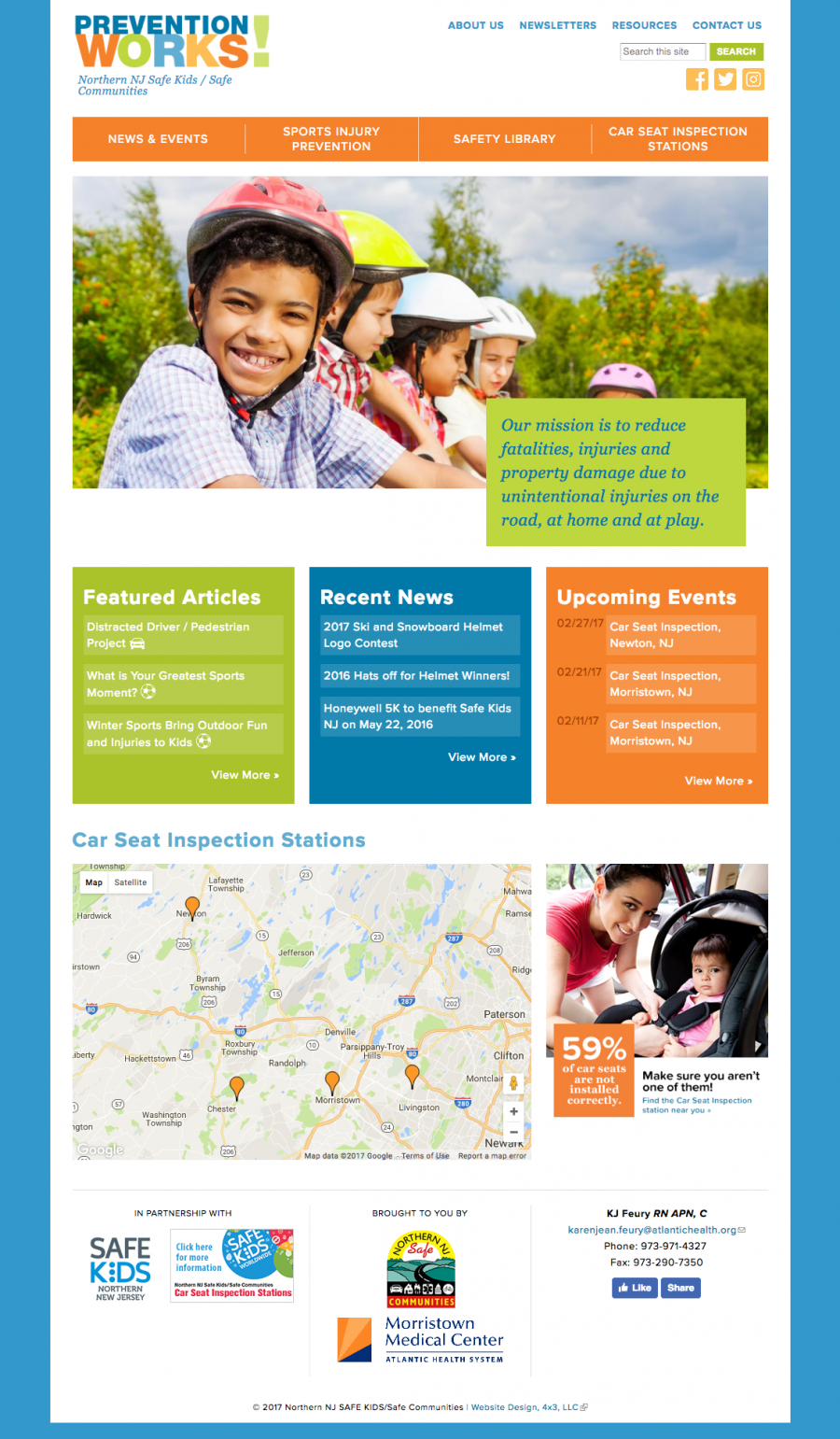 Prevention Works, Homepage Design