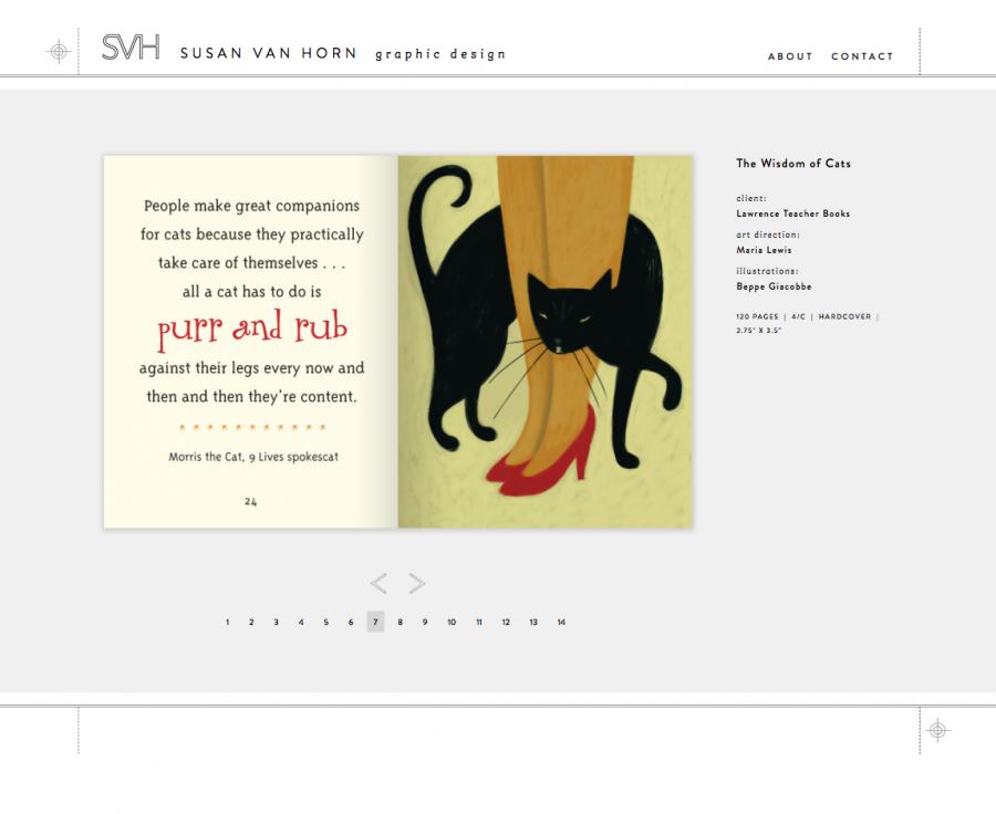 The Wisdom of Cats Print/Book Design