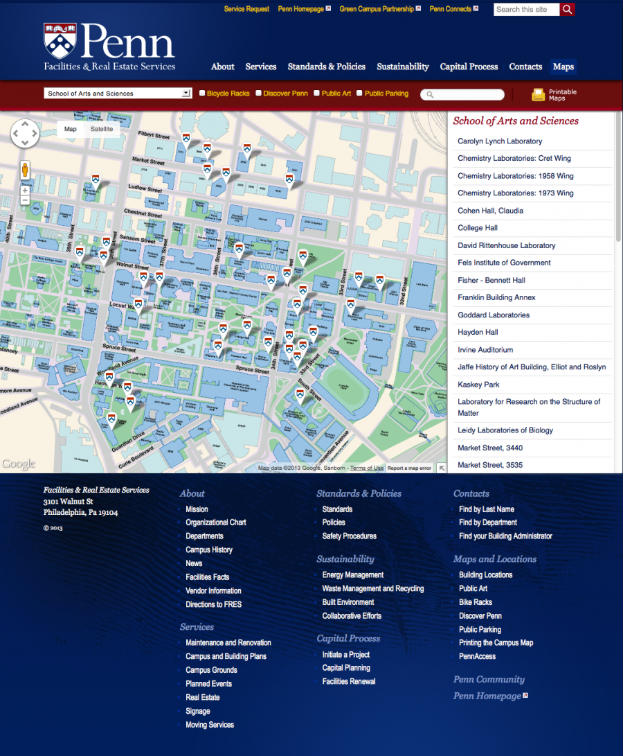 Penn Facilities and Real Estate Services Maps