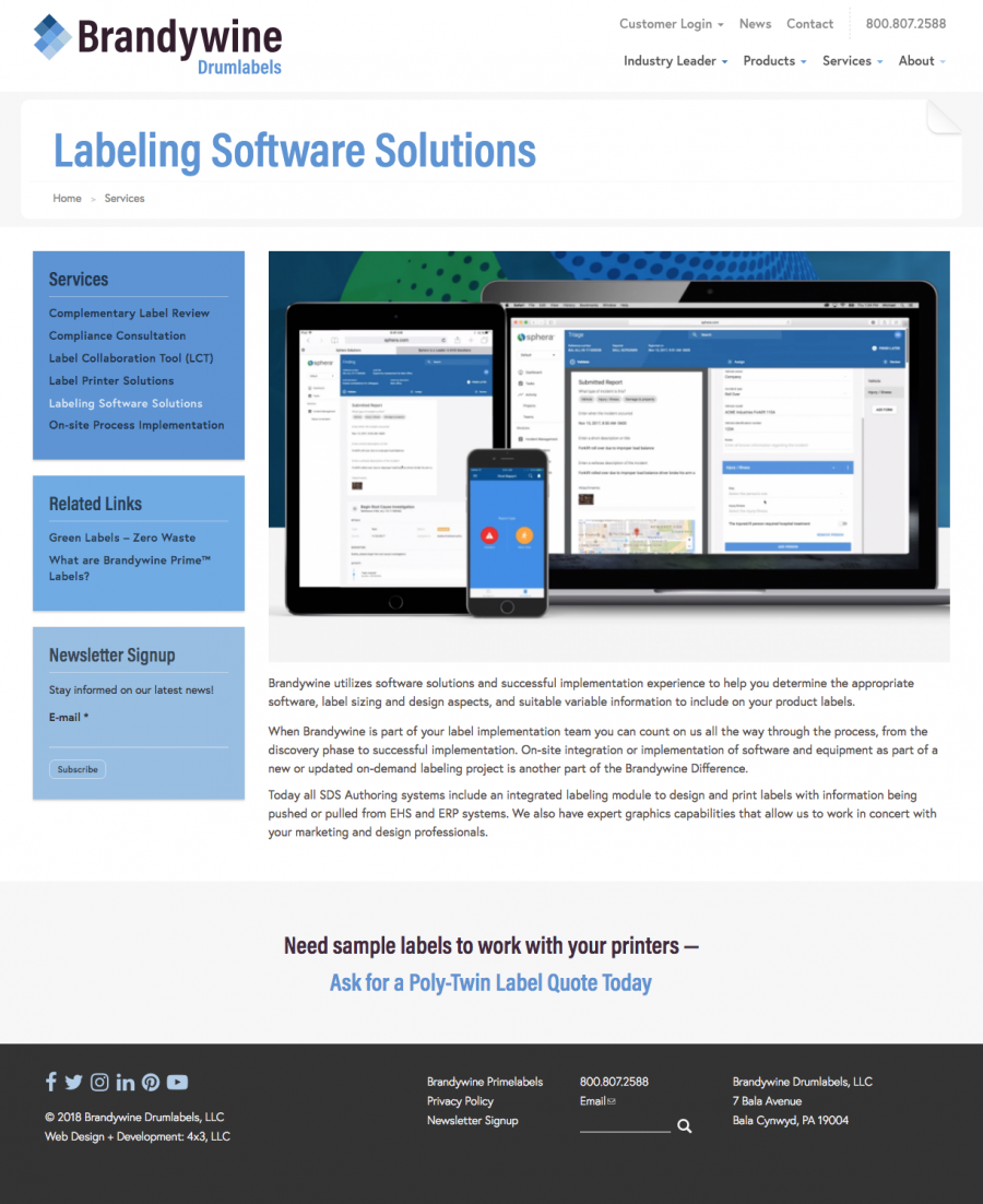 Brandywine Drumlabels Labeling Software Solutions
