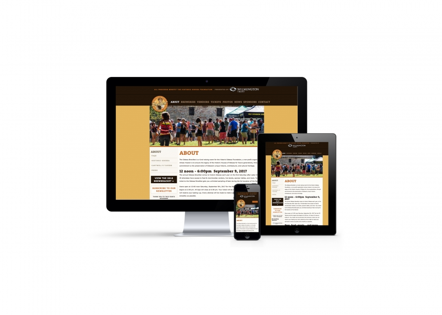 Website Responsive Design on iPhone, iPad, Desktop