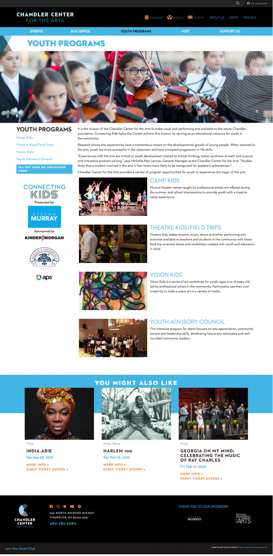 Chandler Website Youth Programs Page