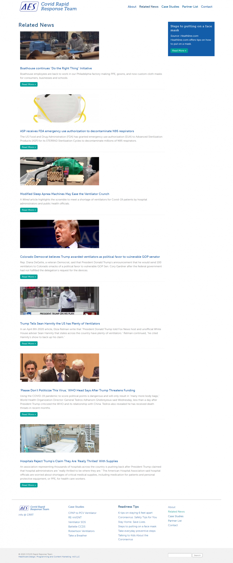 related news page