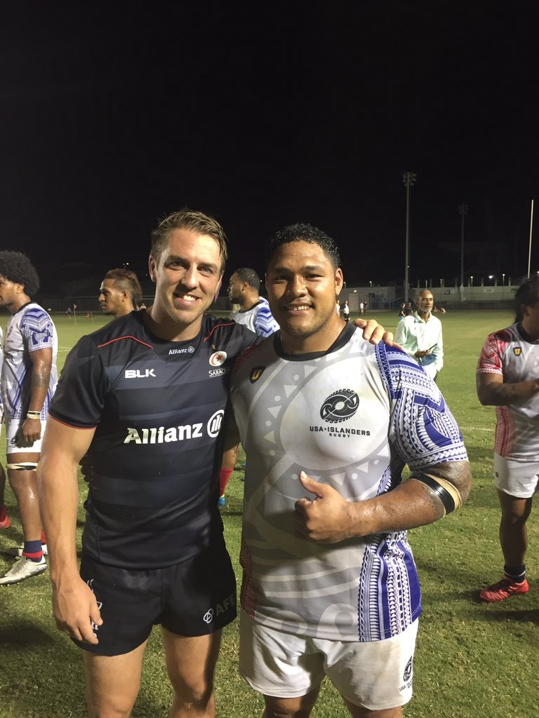 Saracens Captain Chris Wyles and USA Islanders