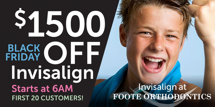 young boy smiling with Invisalign braces