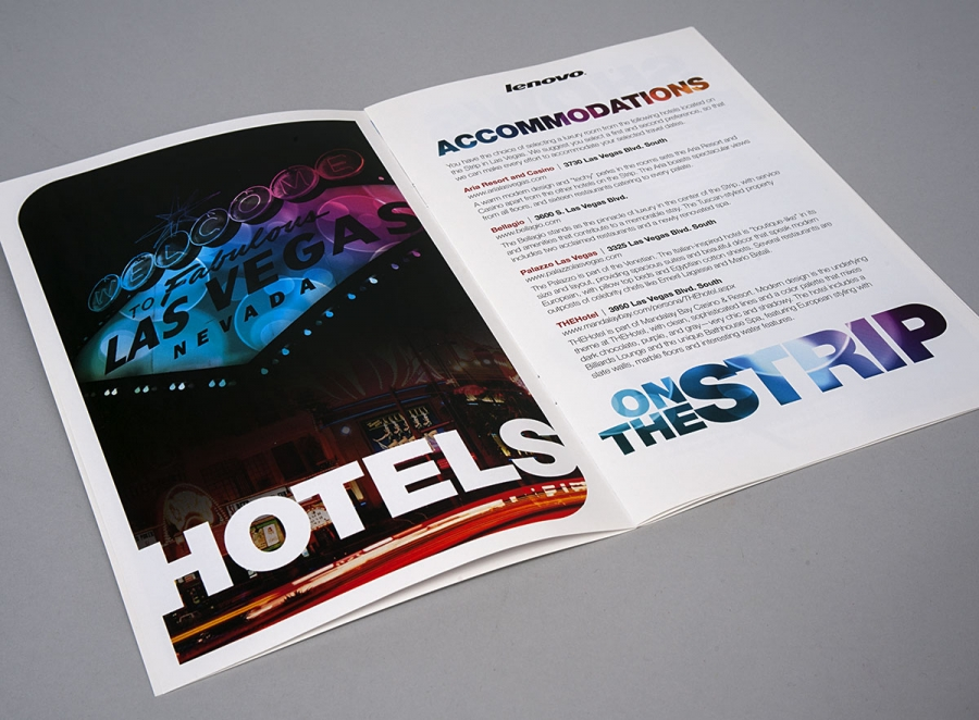 Program Booklet, Internal Page for Hotels in Las Vegas