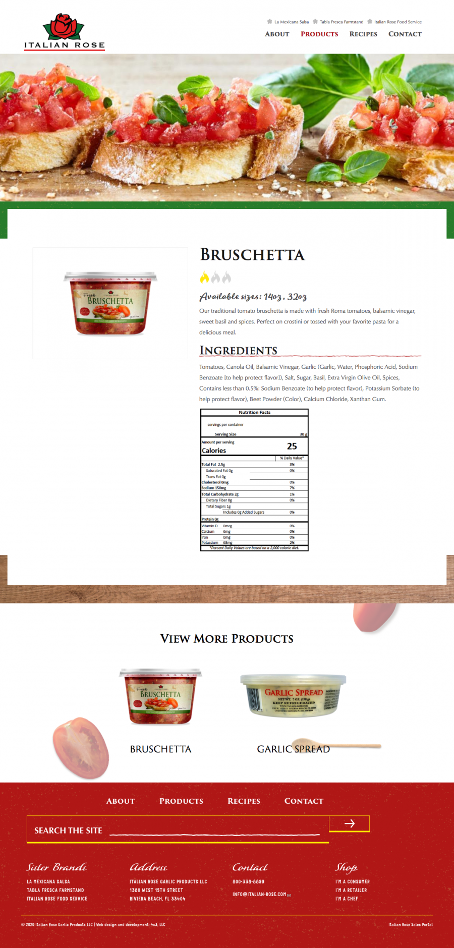 Italian Rose product page