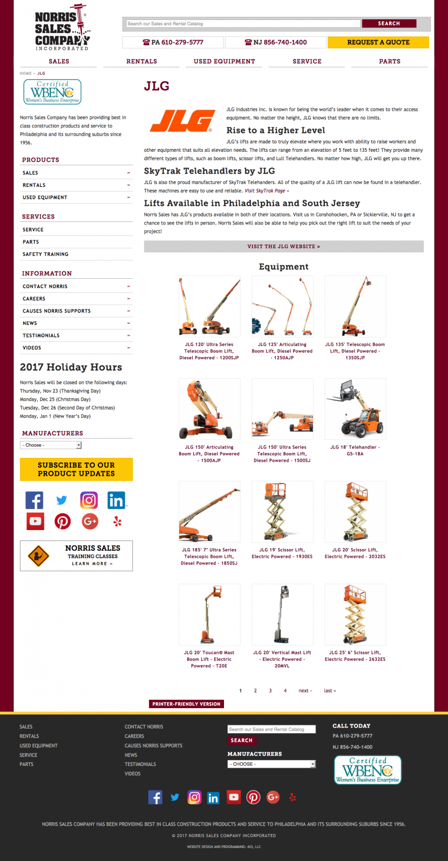 Norris Sales JLG Manufacturer Dealer