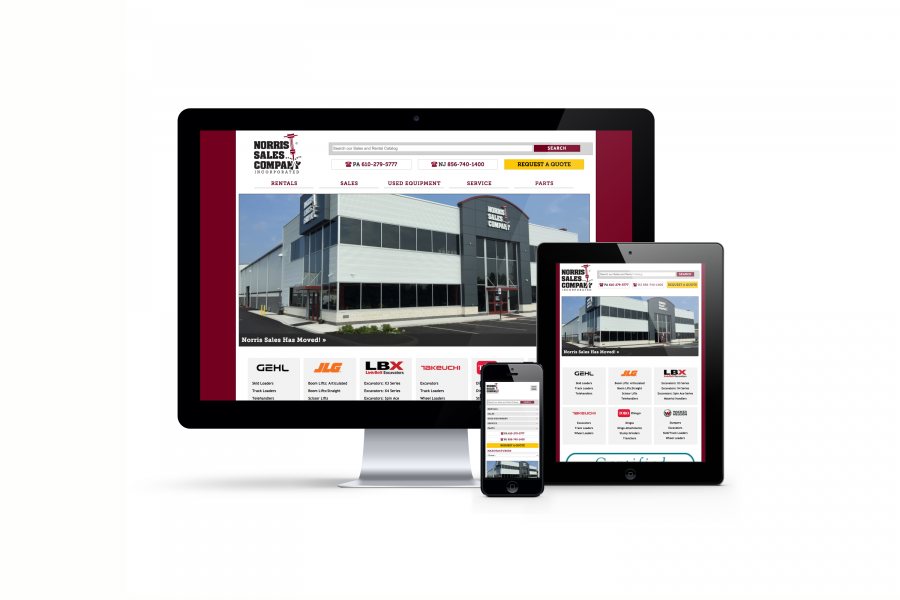 Norris Sales Responsive website